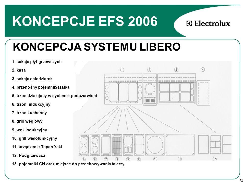 KONCEPCJE EFS 2006 KONCEPCJA SYSTEMU LIBERO 1. sekcja płyt grzewczych