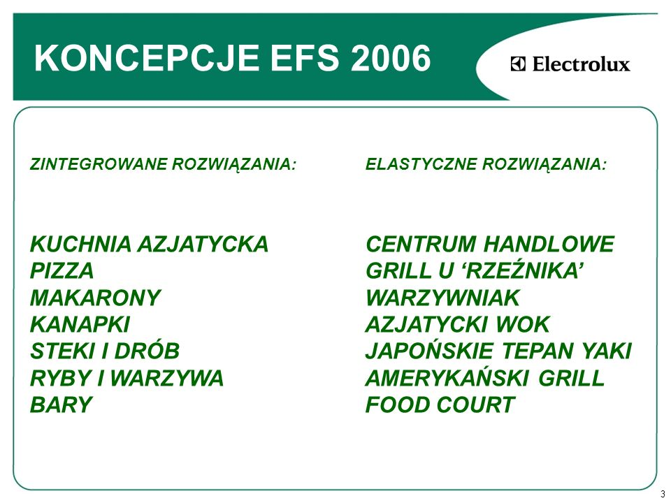 KONCEPCJE EFS 2006 FRESH ASIAN CONCEPT,traditional, HPC