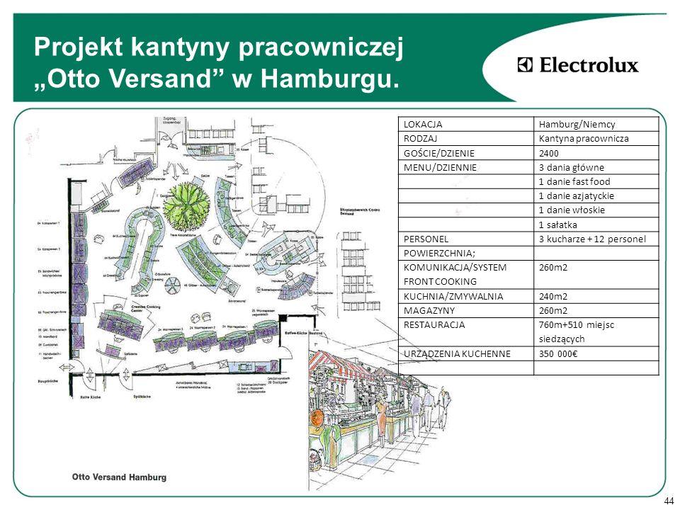 """Projekt kantyny pracowniczej """"Otto Versand w Hamburgu."""