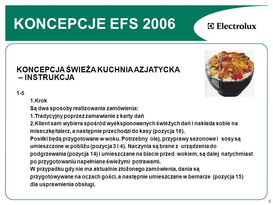 KONCEPCJE EFS 2006 KONCEPCJA ŚWIEŻA KUCHNIA AZJATYCKA – INSTRUKCJA 1-5