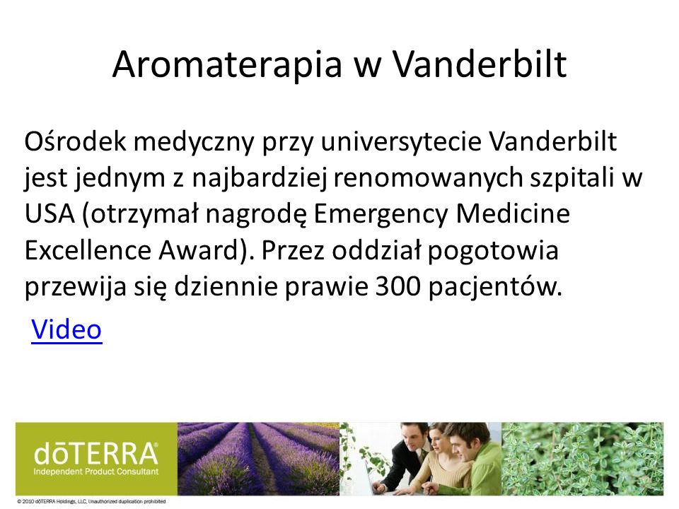 Aromaterapia w Vanderbilt