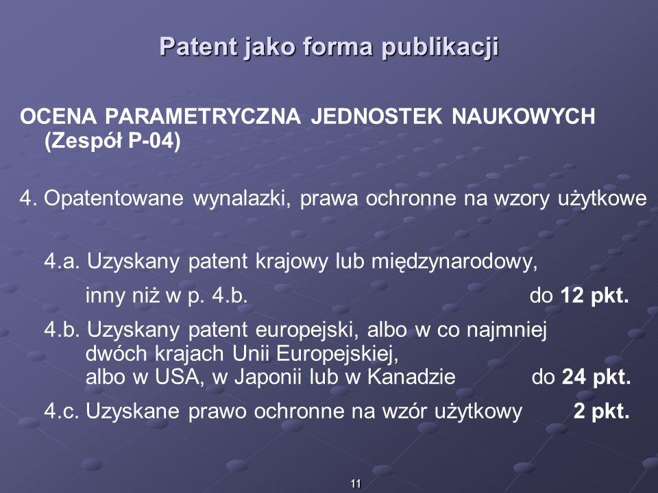 Patent jako forma publikacji