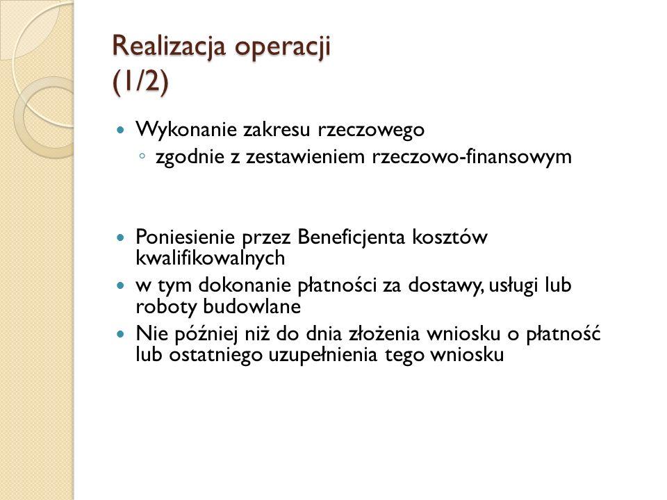 Realizacja operacji (1/2)