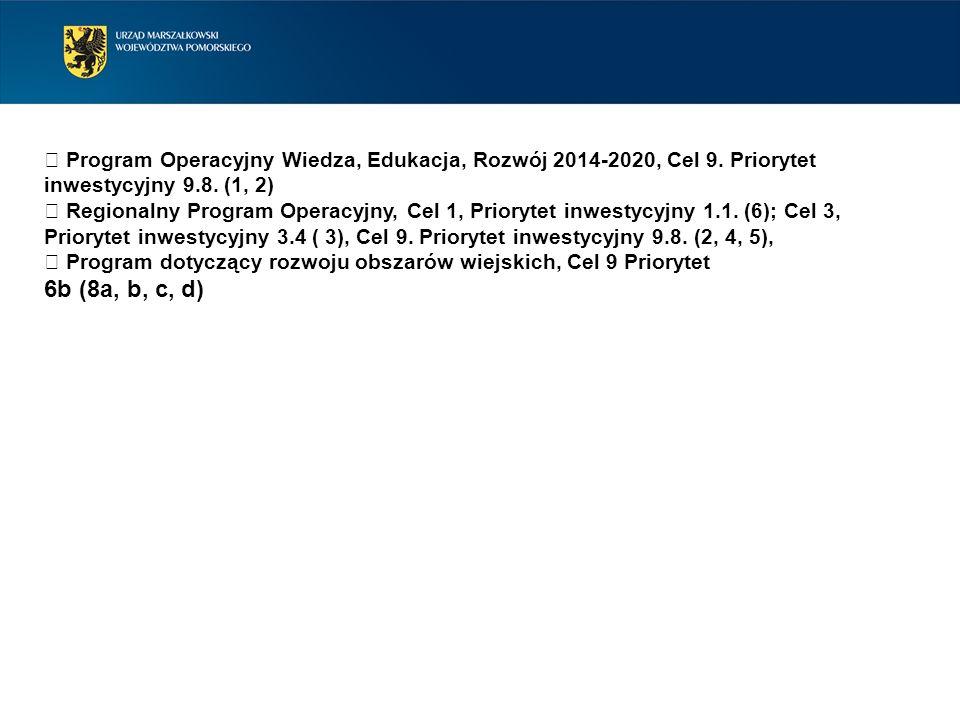  Program Operacyjny Wiedza, Edukacja, Rozwój 2014-2020, Cel 9