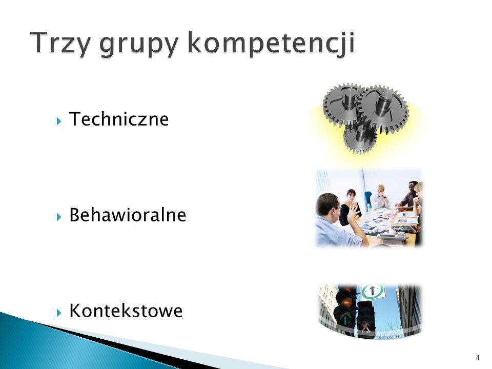 Trzy grupy kompetencji