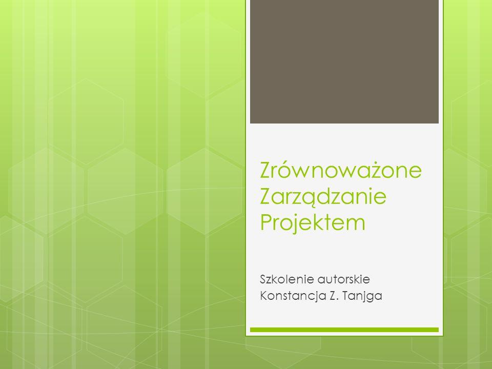 Zrównoważone Zarządzanie Projektem