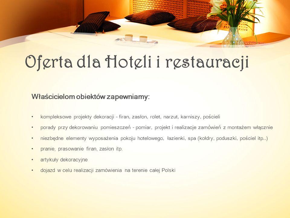 Oferta dla Hoteli i restauracji