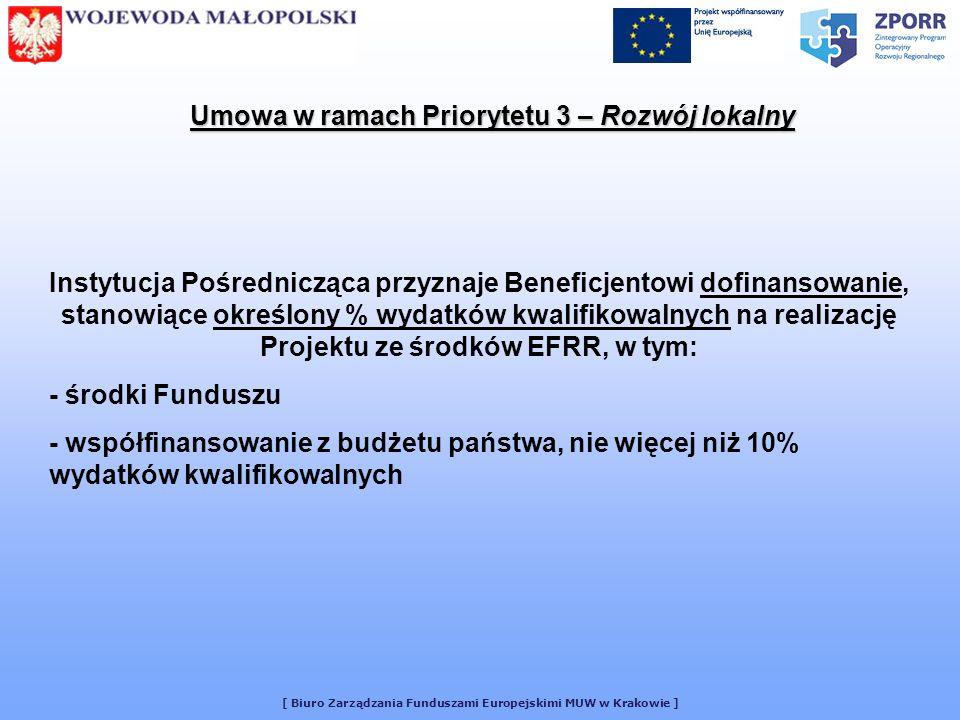 Umowa w ramach Priorytetu 3 – Rozwój lokalny