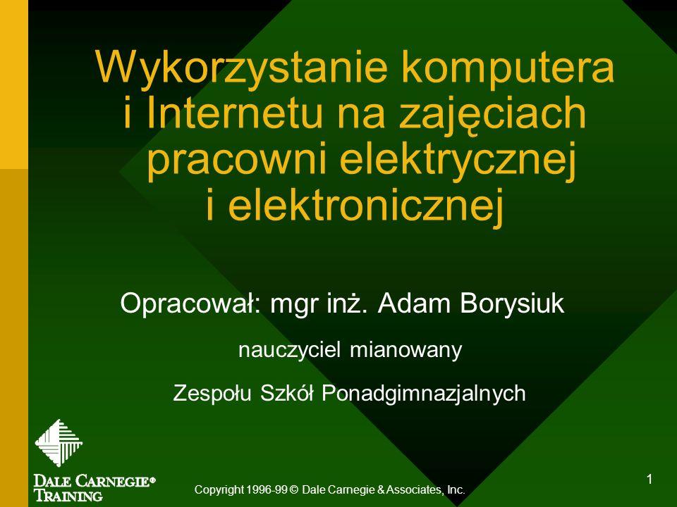 Wykorzystanie komputera i Internetu na zajęciach pracowni elektrycznej i elektronicznej