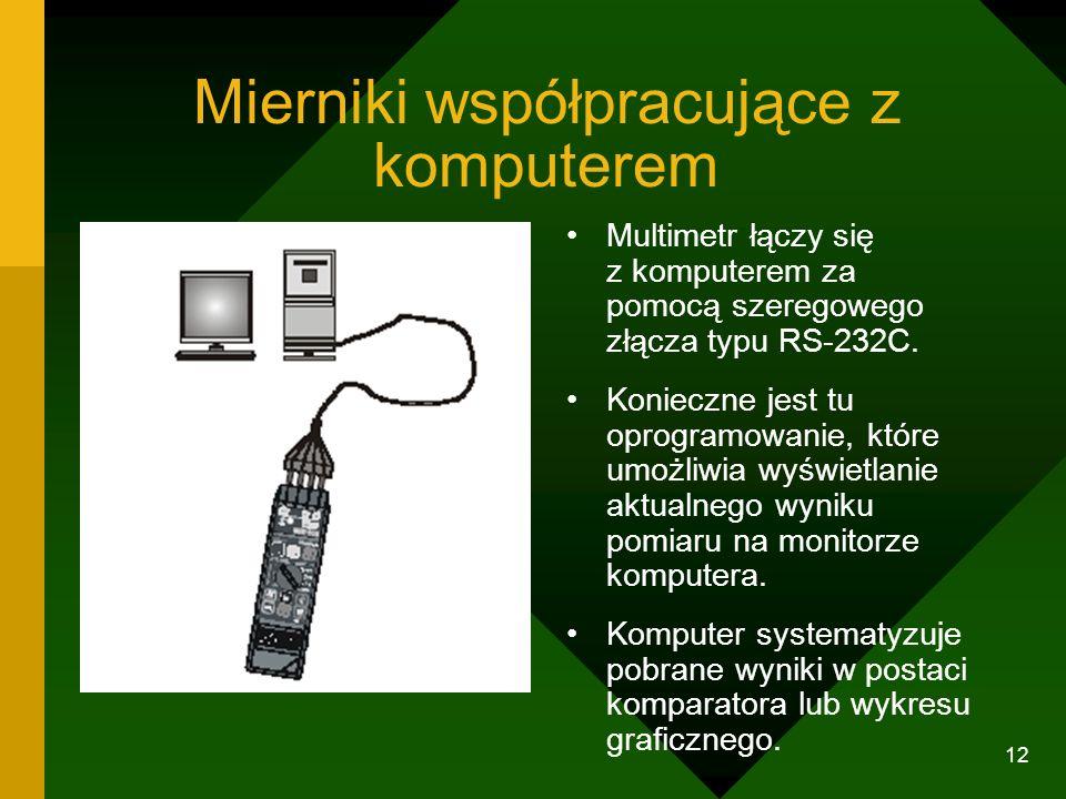 Mierniki współpracujące z komputerem