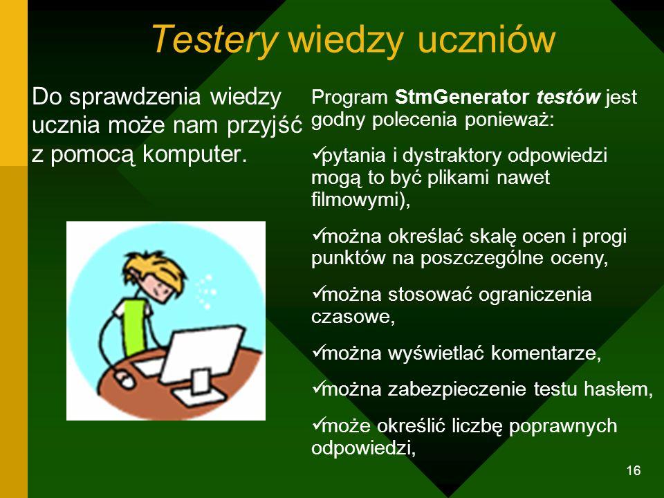 Testery wiedzy uczniów
