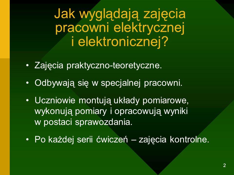 Jak wyglądają zajęcia pracowni elektrycznej i elektronicznej