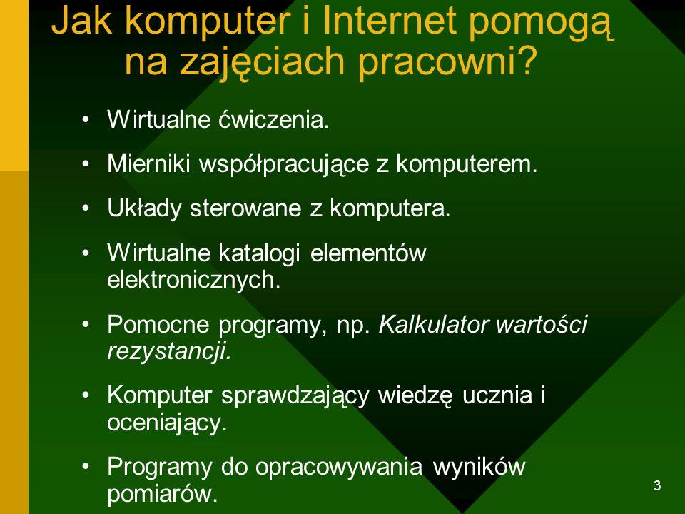 Jak komputer i Internet pomogą na zajęciach pracowni