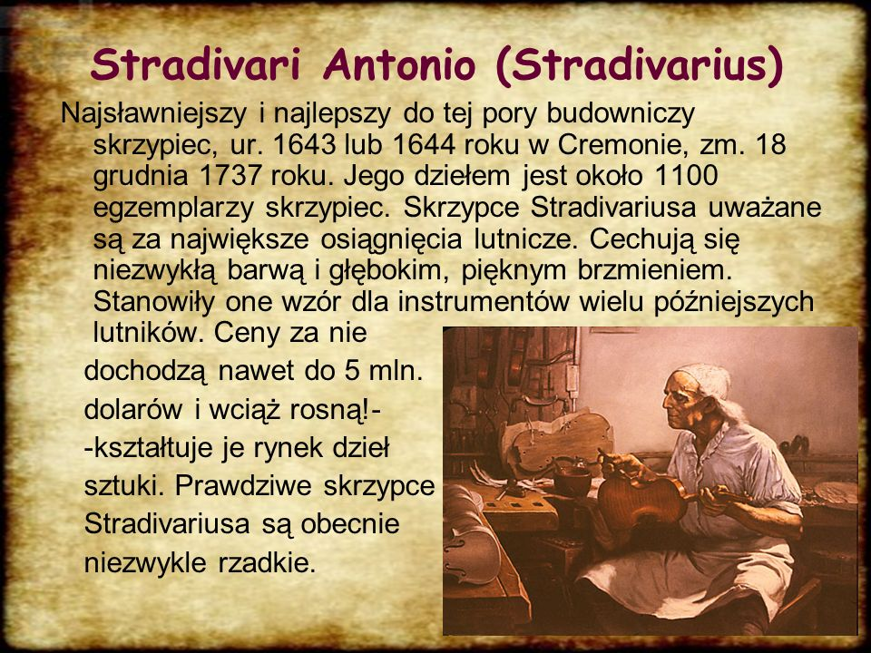 Stradivari Antonio (Stradivarius)