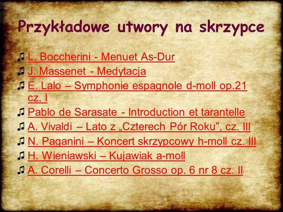 Przykładowe utwory na skrzypce
