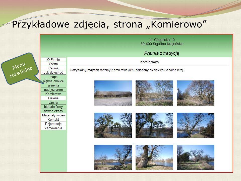 """Przykładowe zdjęcia, strona """"Komierowo"""