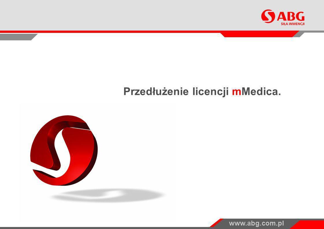 Przedłużenie licencji mMedica.