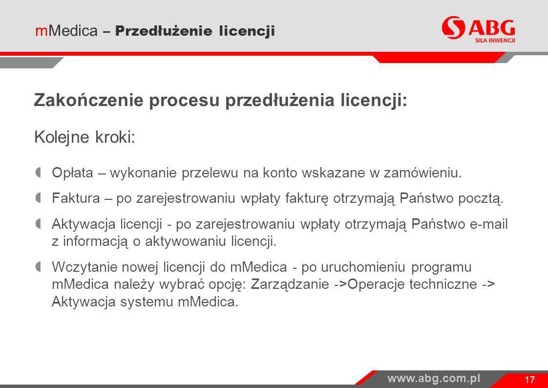 Zakończenie procesu przedłużenia licencji: