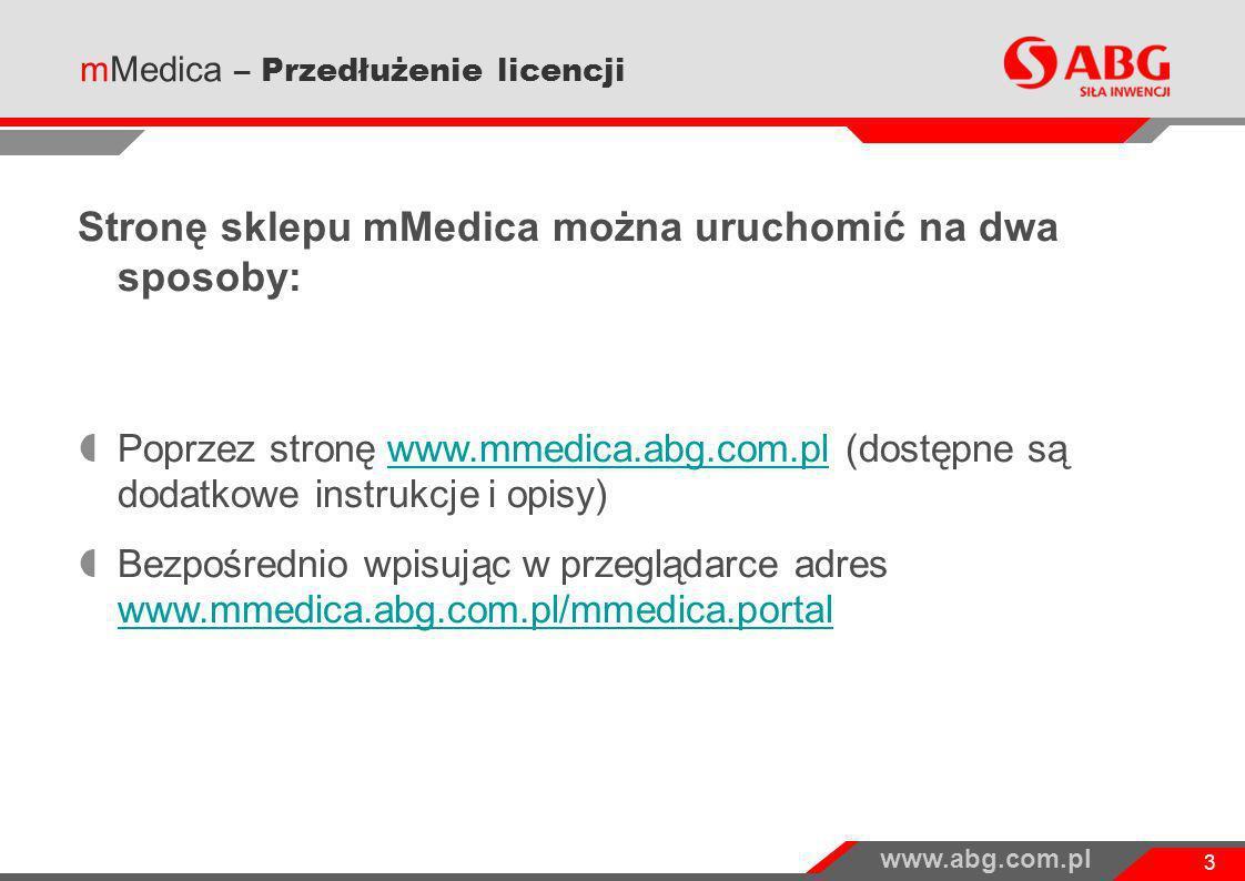 Stronę sklepu mMedica można uruchomić na dwa sposoby: