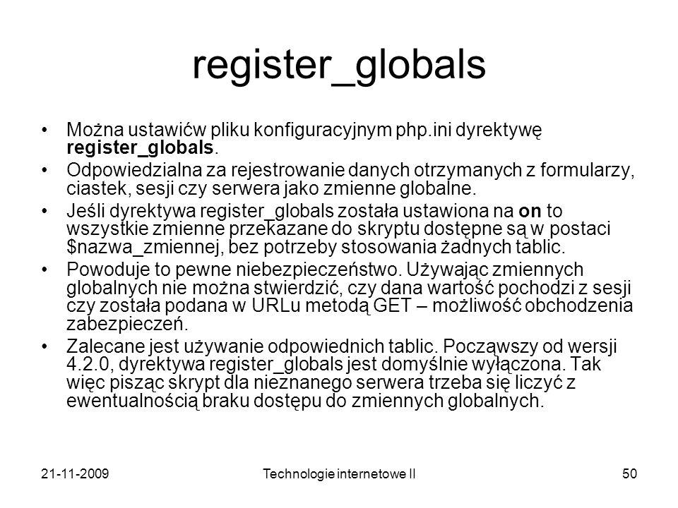 Technologie internetowe II