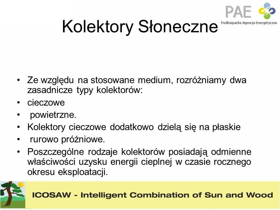 Kolektory Słoneczne Ze względu na stosowane medium, rozróżniamy dwa zasadnicze typy kolektorów: cieczowe.