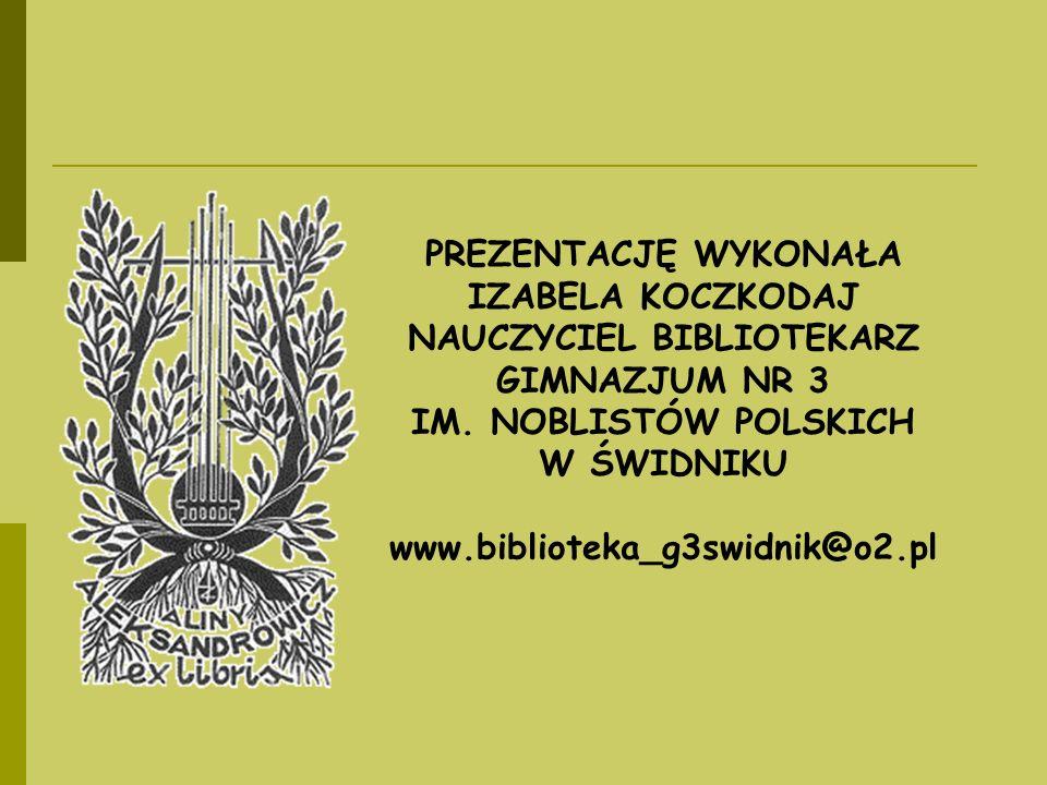 NAUCZYCIEL BIBLIOTEKARZ