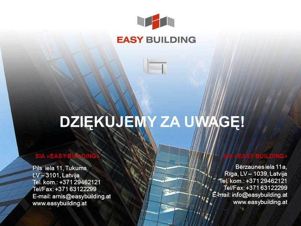 DZIĘKUJEMY ZA UWAGĘ! SIA «EASY BUILDING» SIA «EASY BUILDING»