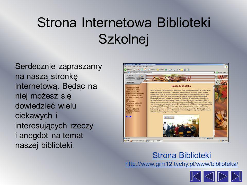Strona Internetowa Biblioteki Szkolnej