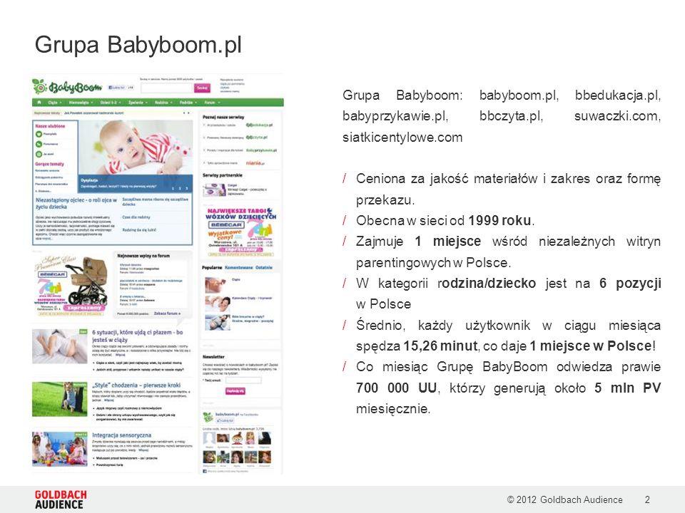 Grupa Babyboom.pl Grupa Babyboom: babyboom.pl, bbedukacja.pl, babyprzykawie.pl, bbczyta.pl, suwaczki.com, siatkicentylowe.com.