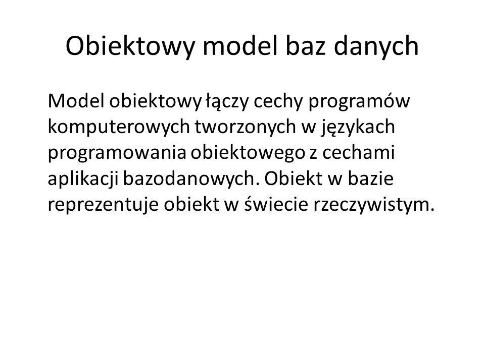 Obiektowy model baz danych