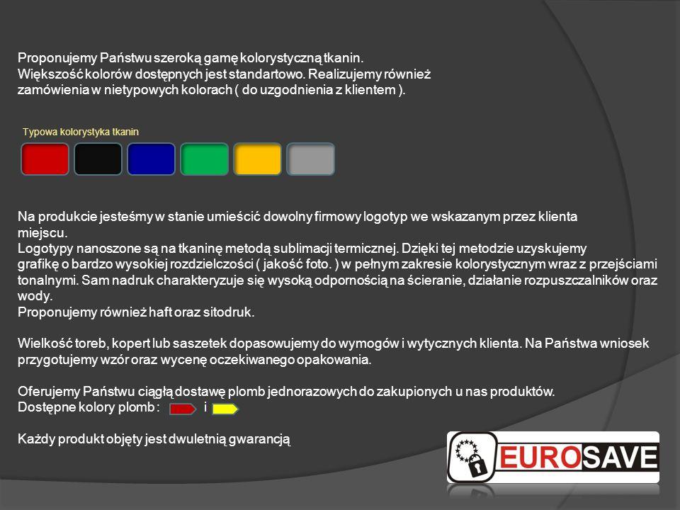 Proponujemy Państwu szeroką gamę kolorystyczną tkanin.