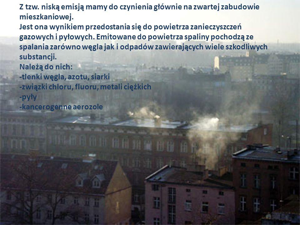 Z tzw. niską emisją mamy do czynienia głównie na zwartej zabudowie mieszkaniowej.