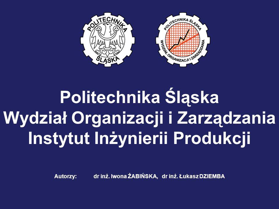 Wydział Organizacji i Zarządzania Instytut Inżynierii Produkcji
