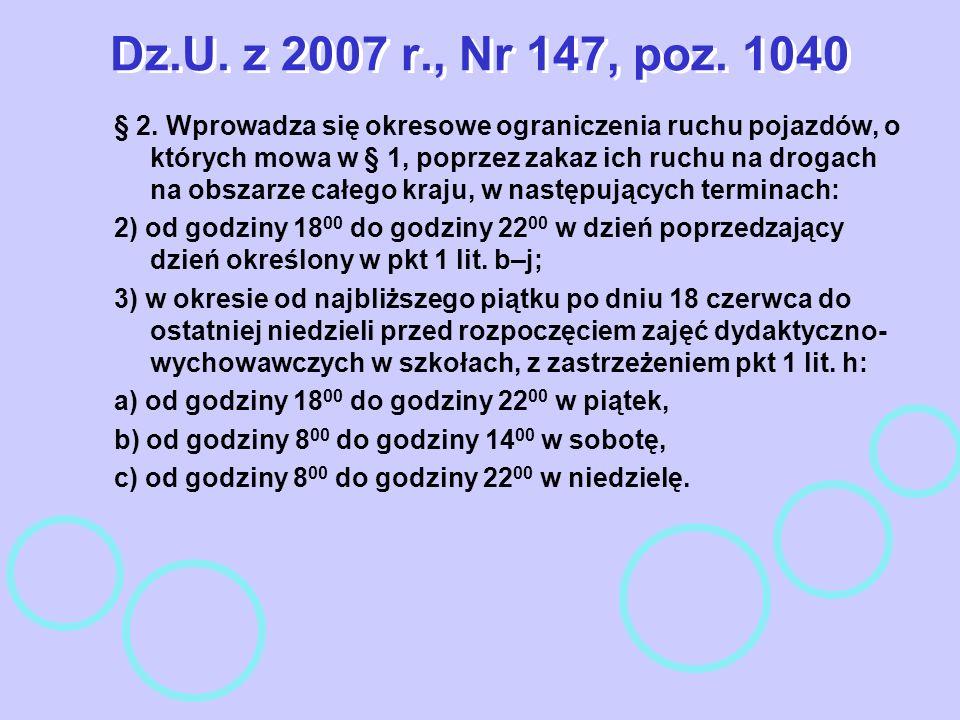 Dz.U. z 2007 r., Nr 147, poz. 1040