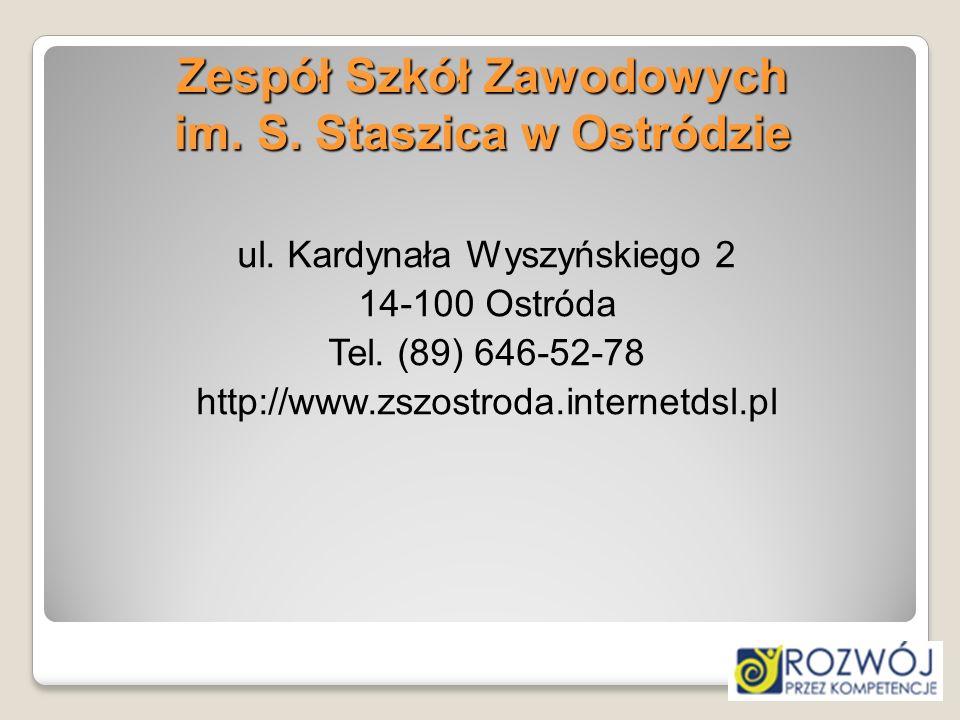 Zespół Szkół Zawodowych im. S. Staszica w Ostródzie