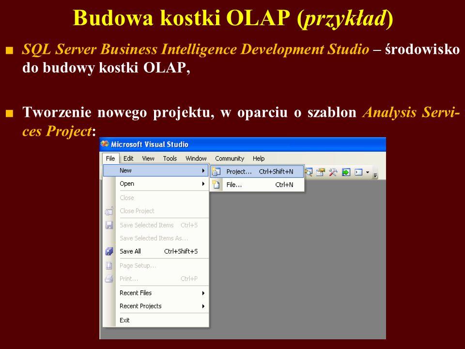 Budowa kostki OLAP (przykład)
