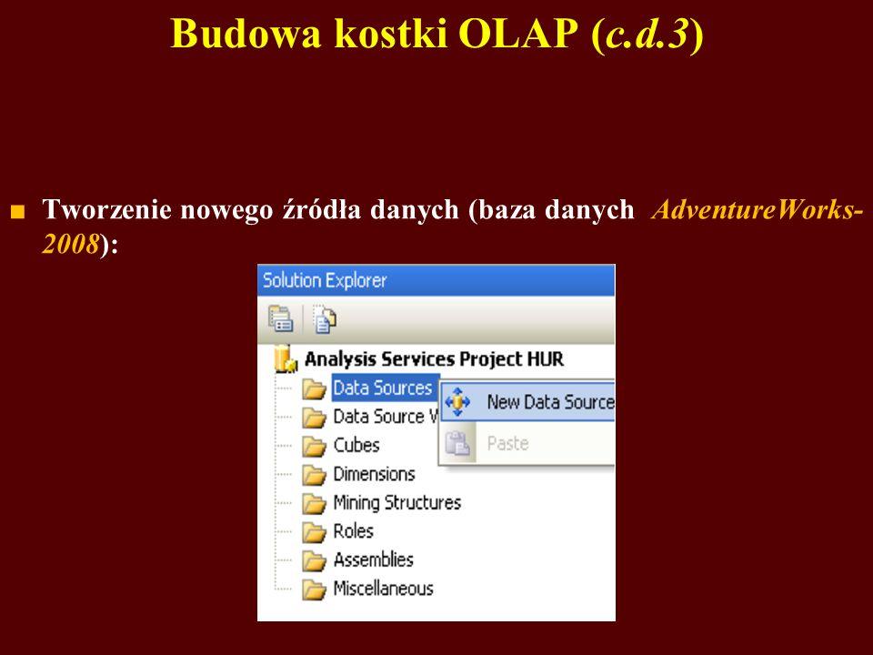 Budowa kostki OLAP (c.d.3)