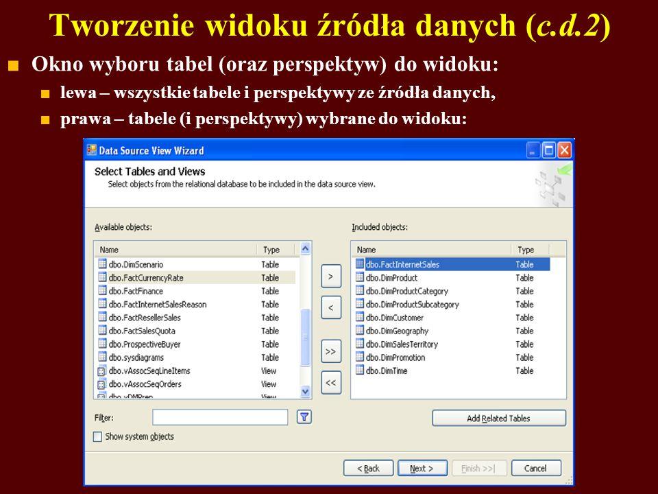 Tworzenie widoku źródła danych (c.d.2)