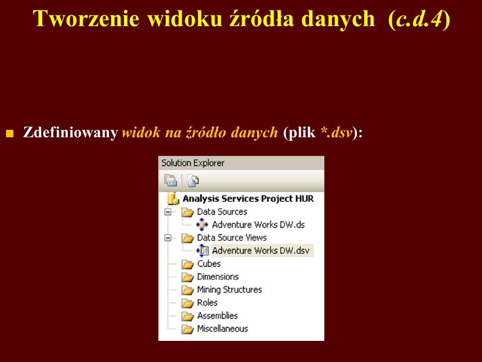 Tworzenie widoku źródła danych (c.d.4)