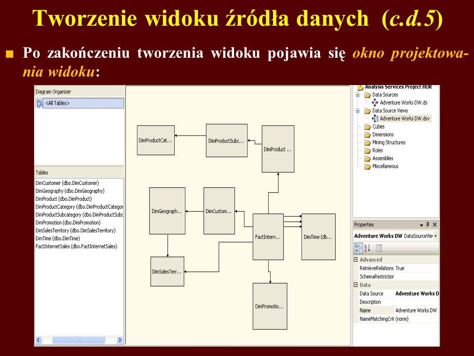 Tworzenie widoku źródła danych (c.d.5)