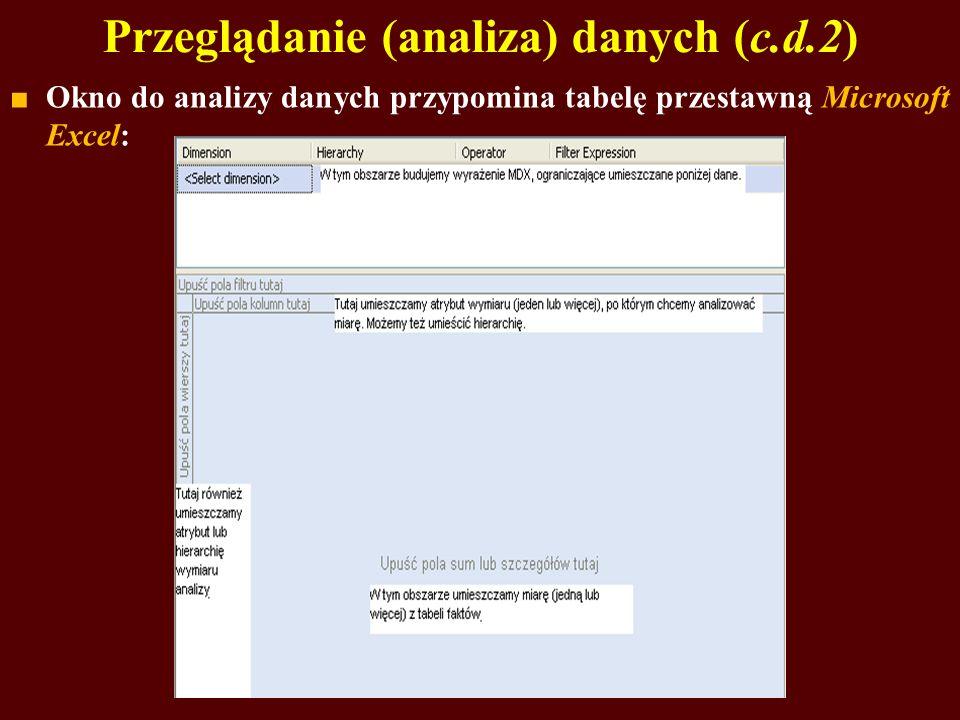 Przeglądanie (analiza) danych (c.d.2)