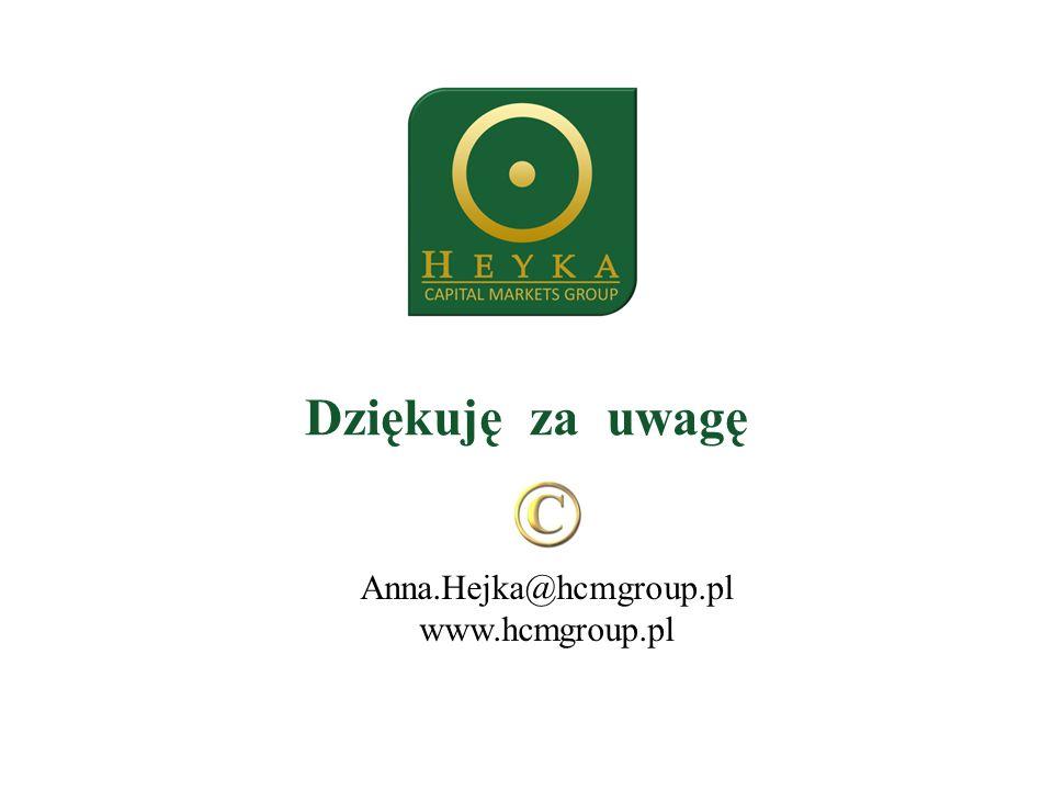 Dziękuję za uwagę Anna.Hejka@hcmgroup.pl www.hcmgroup.pl
