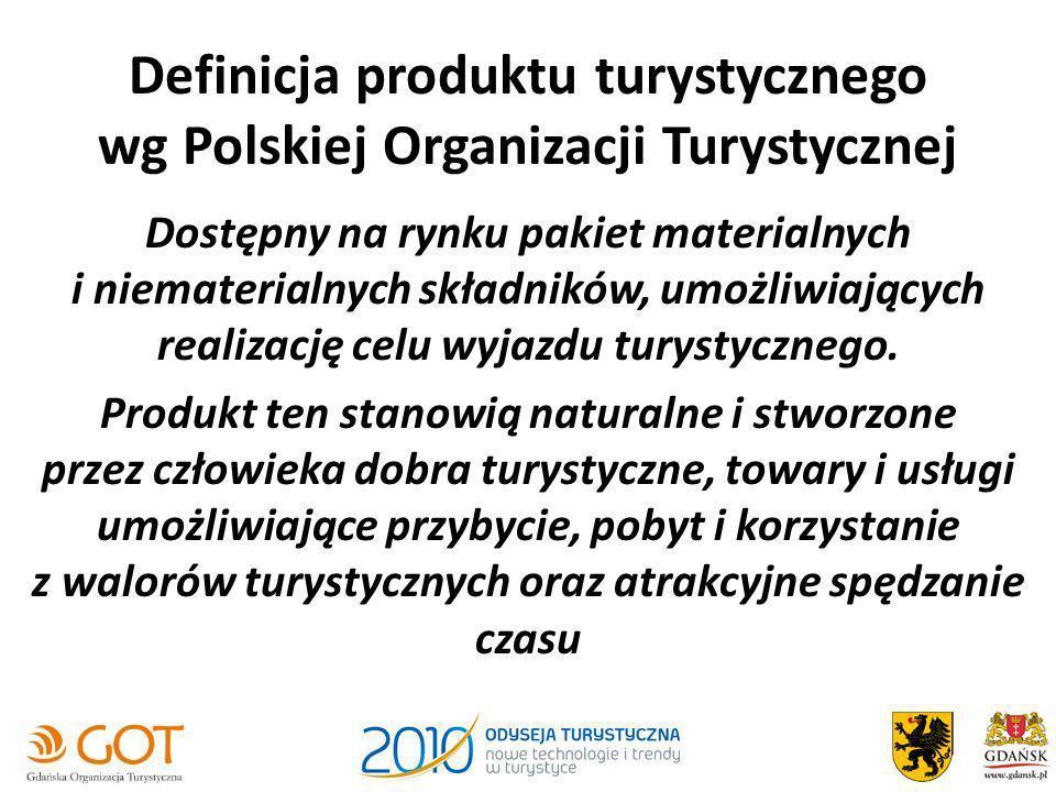 Definicja produktu turystycznego wg Polskiej Organizacji Turystycznej