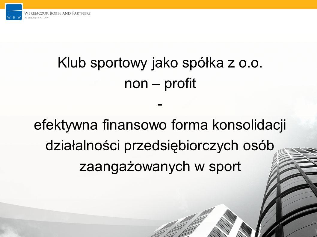 Klub sportowy jako spółka z o. o