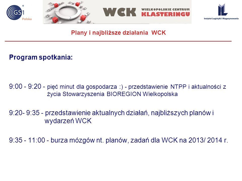 Plany i najbliższe działania WCK