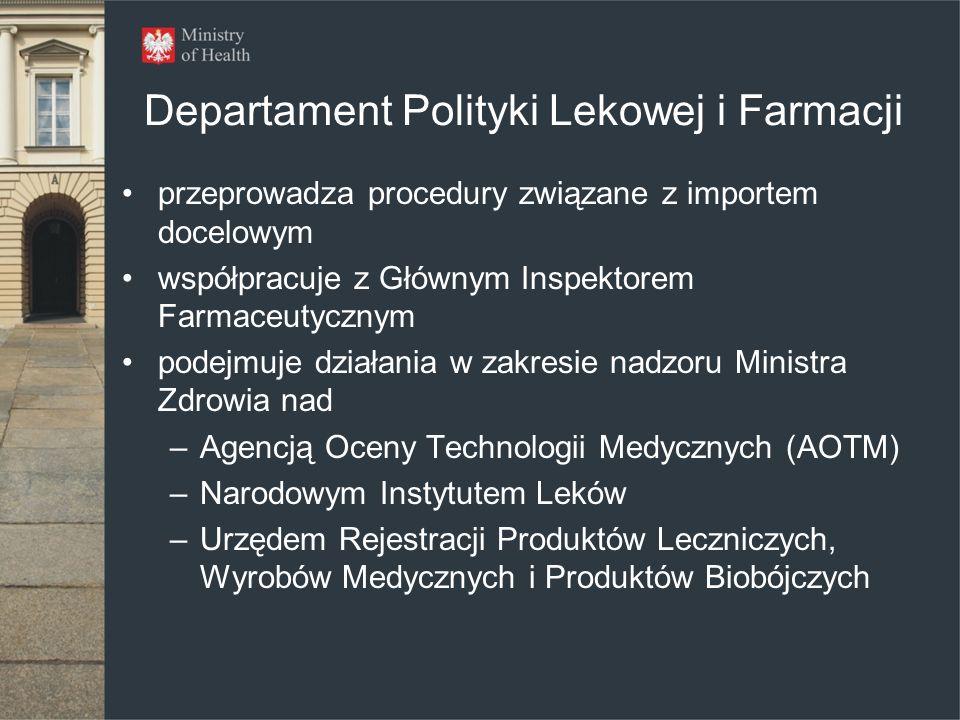 Departament Polityki Lekowej i Farmacji