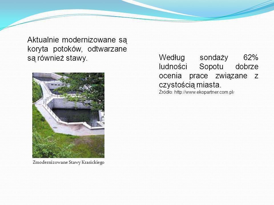 Aktualnie modernizowane są koryta potoków, odtwarzane są również stawy.
