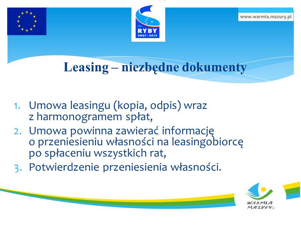 Leasing – niezbędne dokumenty