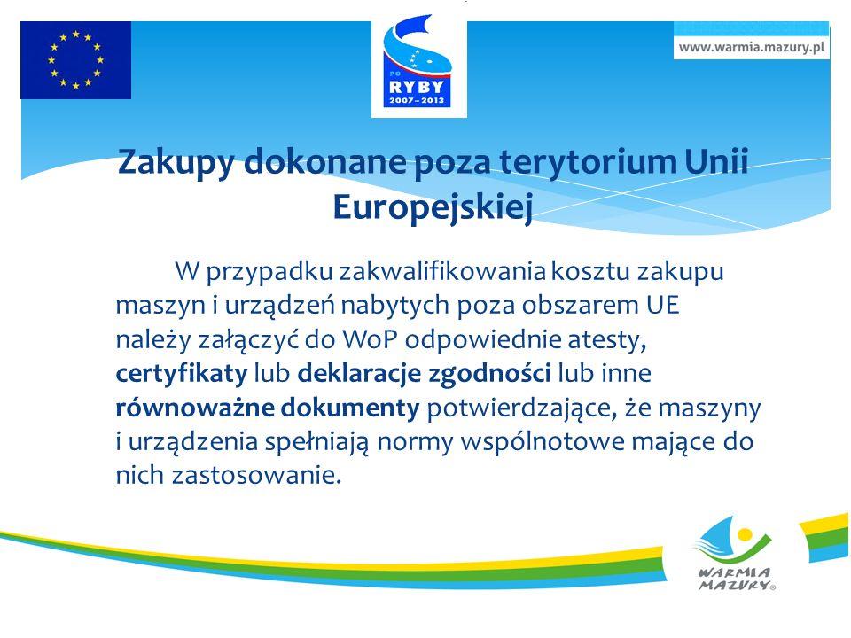 Zakupy dokonane poza terytorium Unii Europejskiej