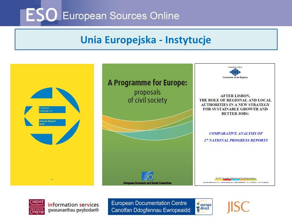 Unia Europejska - Instytucje